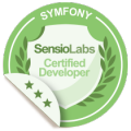 SensioLabs Certified Symfony Developer (Expert) badge